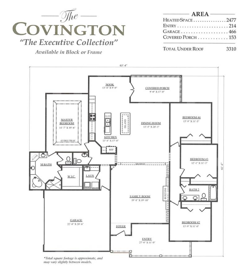 Covington a 4 bedroom 2 bath home in bellechase oak for Armstrong homes floor plans