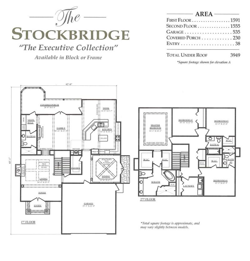 Stockbridge a 4 bedroom 4 bath home in bellechase the for Armstrong homes floor plans
